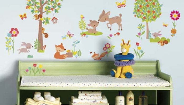 Enchanted Spring Forest Wall Stickers
