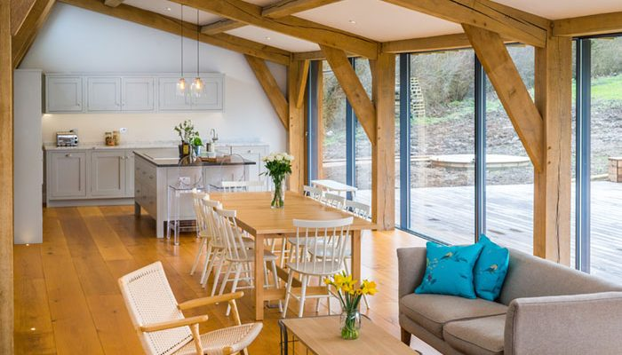 A beautifully designed interior by Batterham Matthews Architects, finished by Coppice Guild