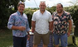 (left to right) Stephen Graver, David Flatman and Marcus Bawdon